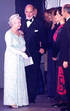 Marion Newman with Queen Elizabeth II